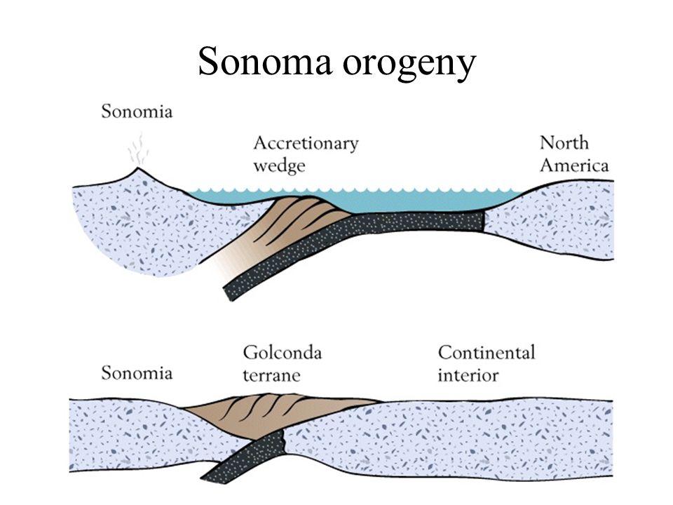 Earth History, Ch. 1654 Sonoma orogeny