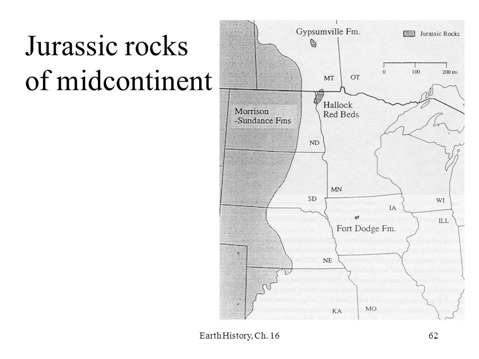 Earth History, Ch. 1662 Jurassic rocks of midcontinent