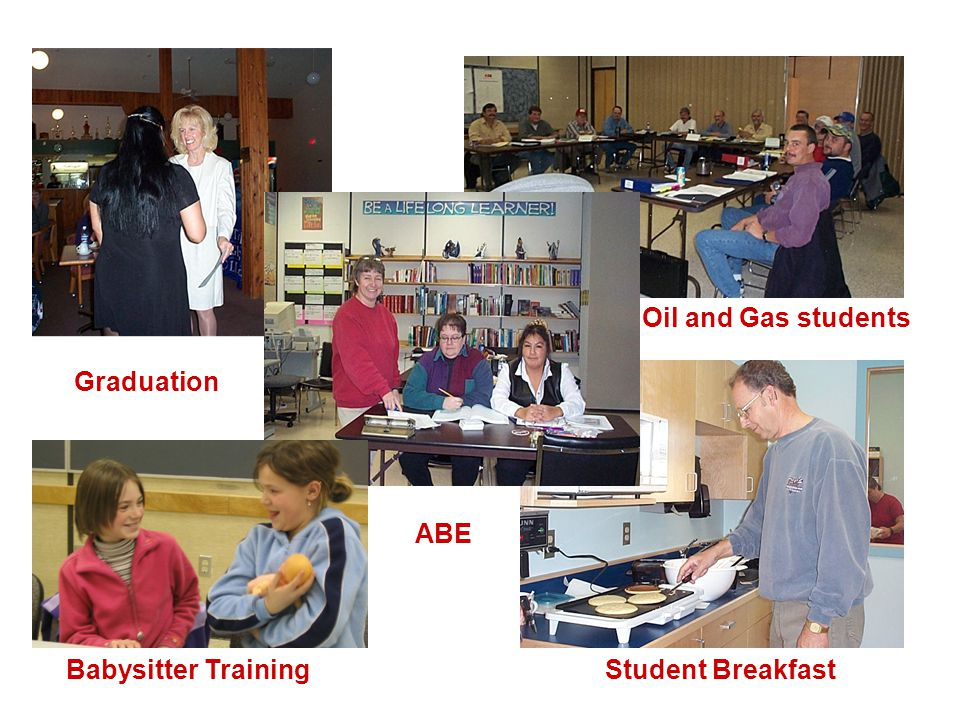 Graduation Babysitter Training ABE Student Breakfast Oil and Gas students