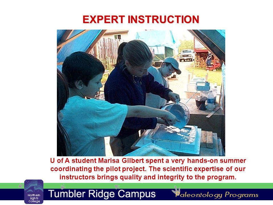 U of A student Marisa Gilbert spent a very hands-on summer coordinating the pilot project.