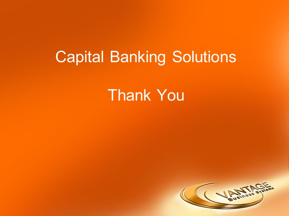 Capital Banking Solutions Thank You