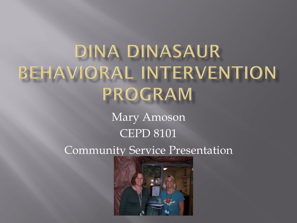 Mary Amoson CEPD 8101 Community Service Presentation