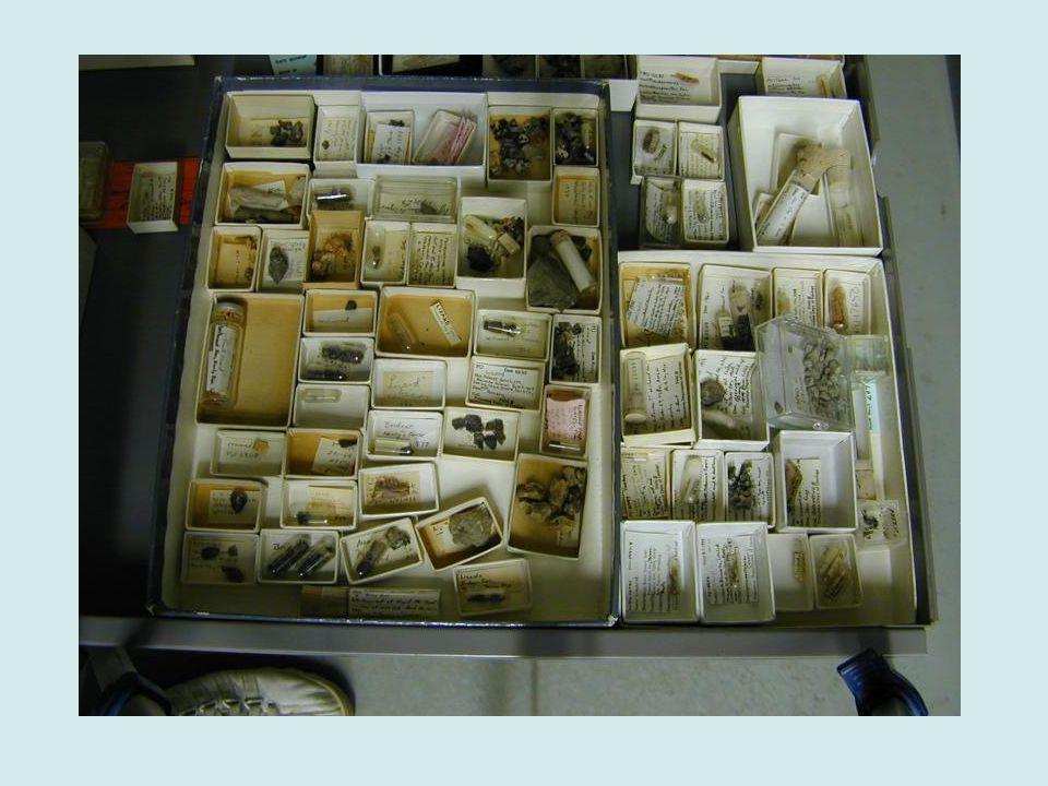 Specimen trays, ethafoam lining, cutting forms