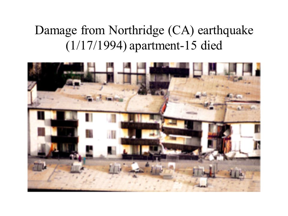 Damage from Northridge (CA) earthquake (1/17/1994) apartment-15 died