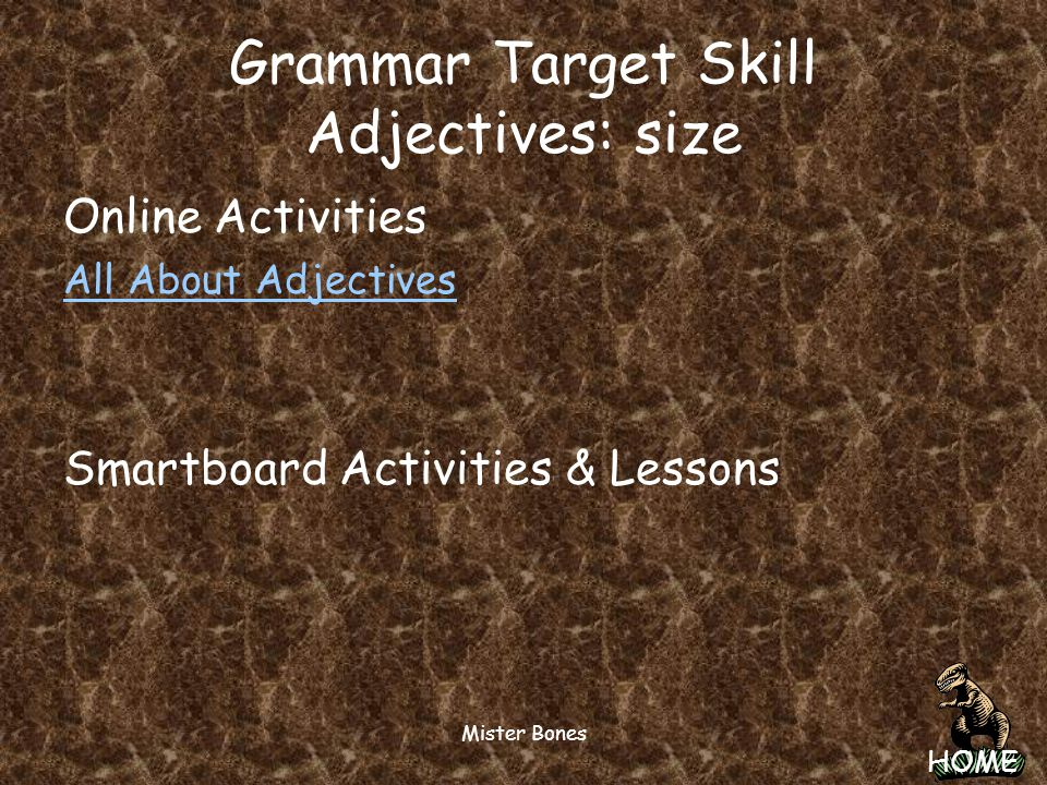 HOME Mister Bones Phonics Target Skil Long o: oa, ow Spelling Words Long o: oa, ow Spelling Words Online Activities & Lessons BBC: The Toad & Goat Poe