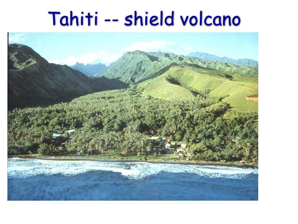 Tahiti -- shield volcano