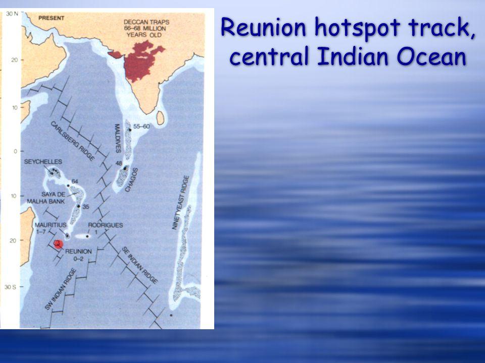 Reunion hotspot track, central Indian Ocean