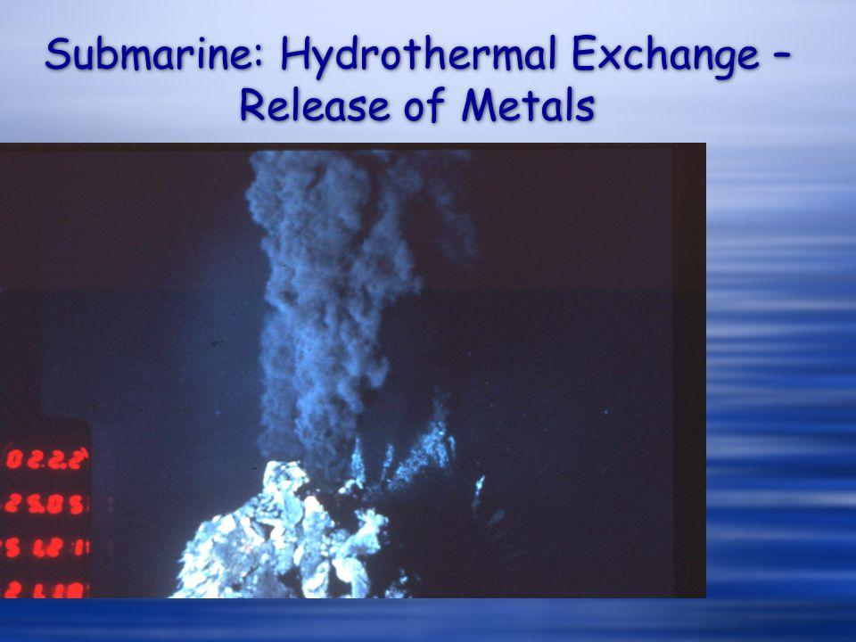 Submarine: Hydrothermal Exchange – Release of Metals