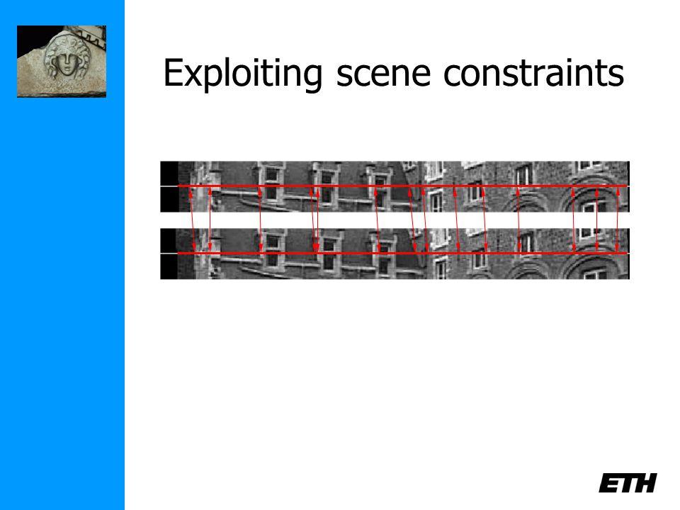 Exploiting scene constraints