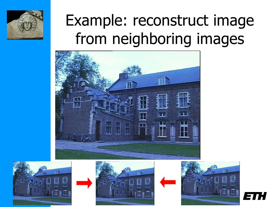 Example: reconstruct image from neighboring images