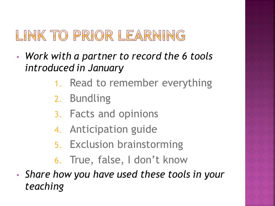  We are going to learn a new tool to help our students to better understand what they are reading.