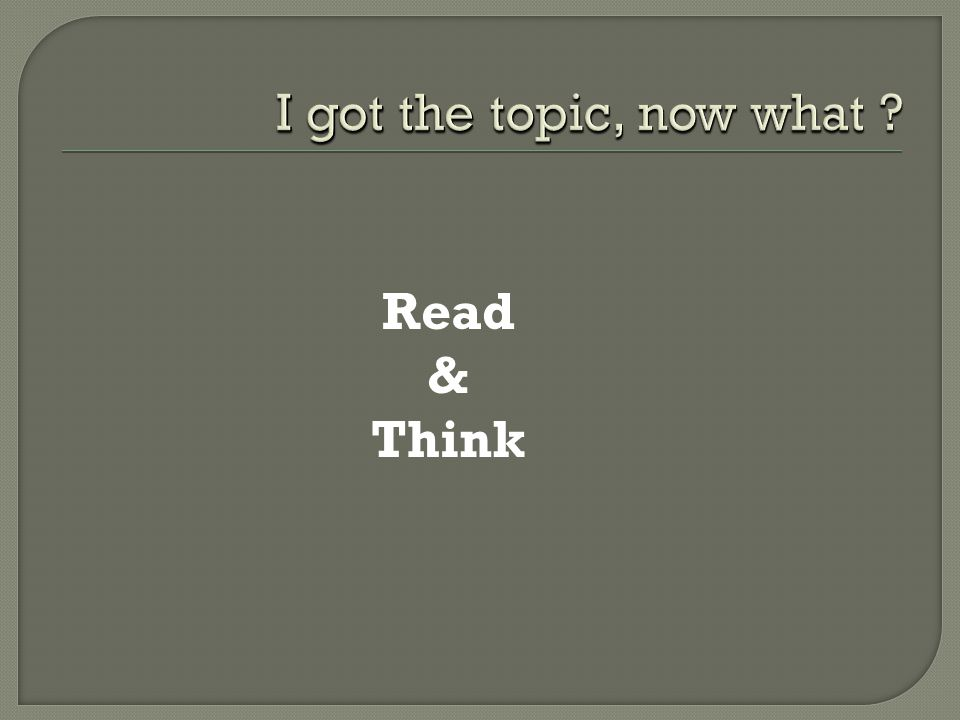Read & Think