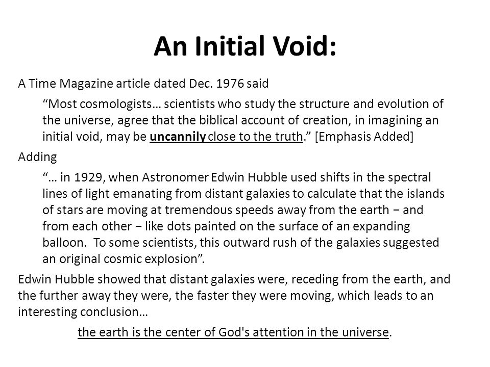 The 1st Law of Thermodynamics Thus the heavens and the earth were finished, and all the host of them (Genesis 2:1).