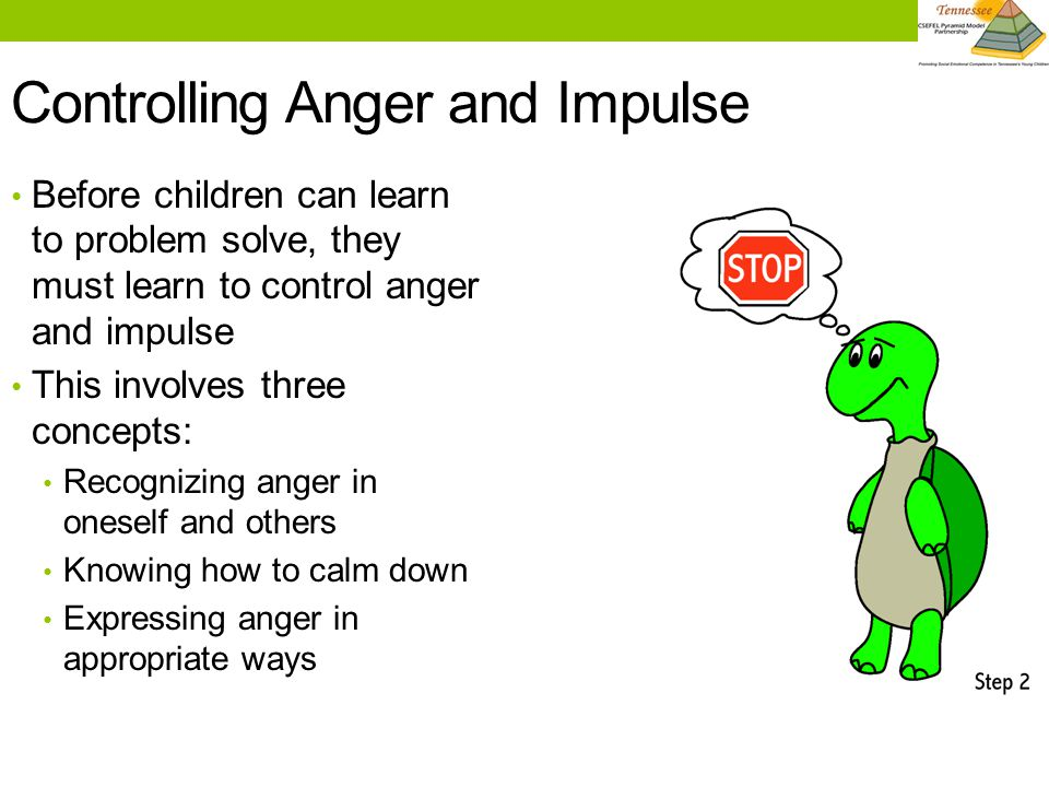 7 Discussion: Learning to Calm Down With your co-teachers, define calm and tense in developmentally appropriate terms for your classroom.