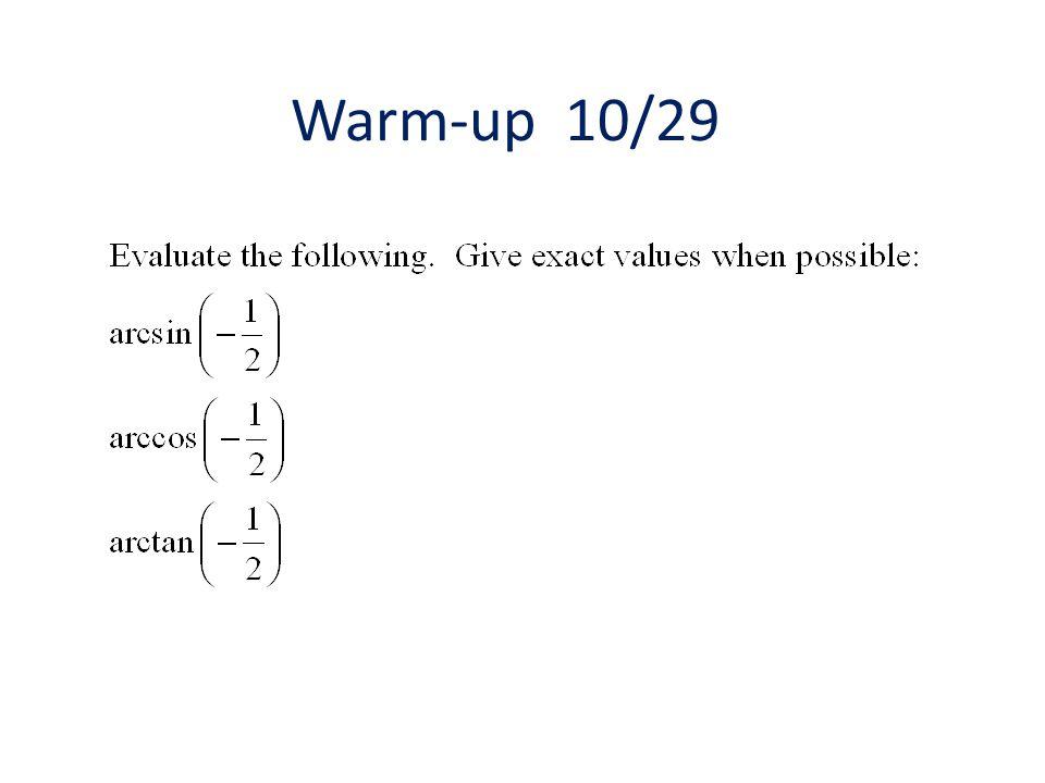 Warm-up 10/29