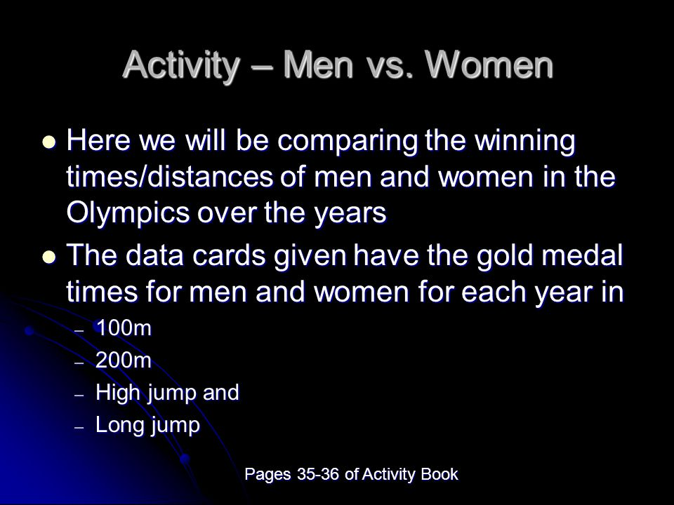 Activity – Men vs.