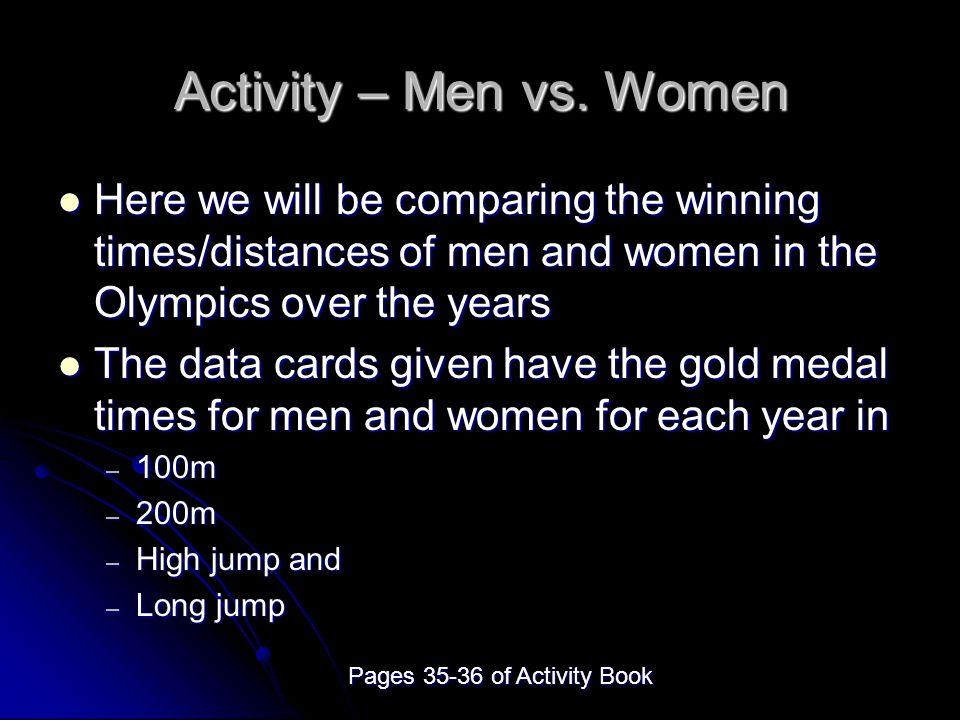 Activity – Men vs.