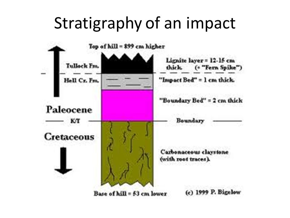 Stratigraphy of an impact