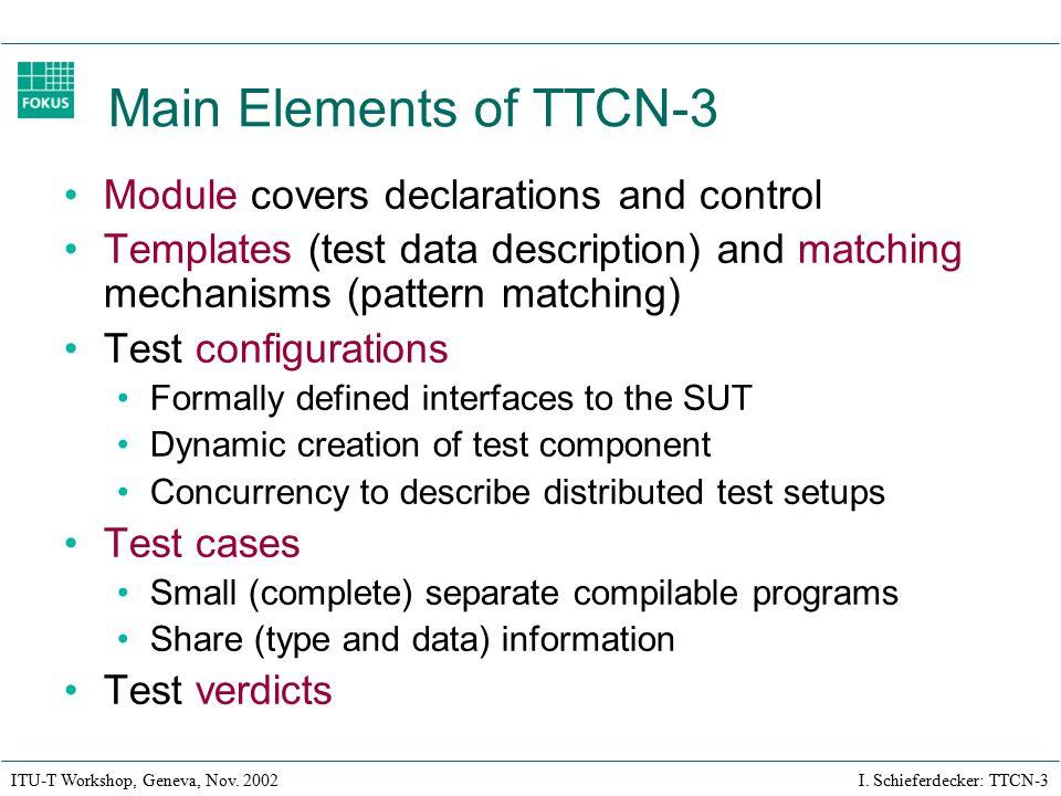 ITU-T Workshop, Geneva, Nov. 2002 I.