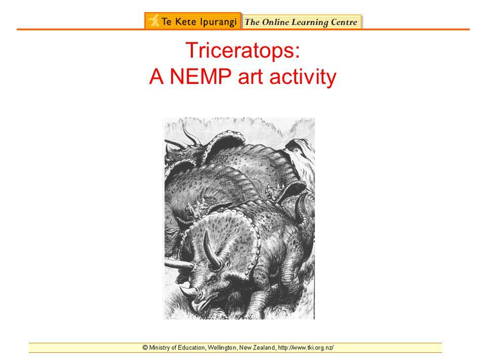 Triceratops: A NEMP art activity