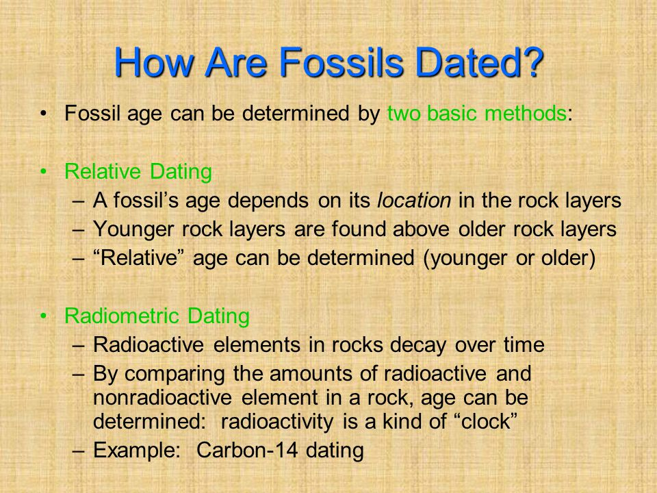 How Are Fossils Dated.