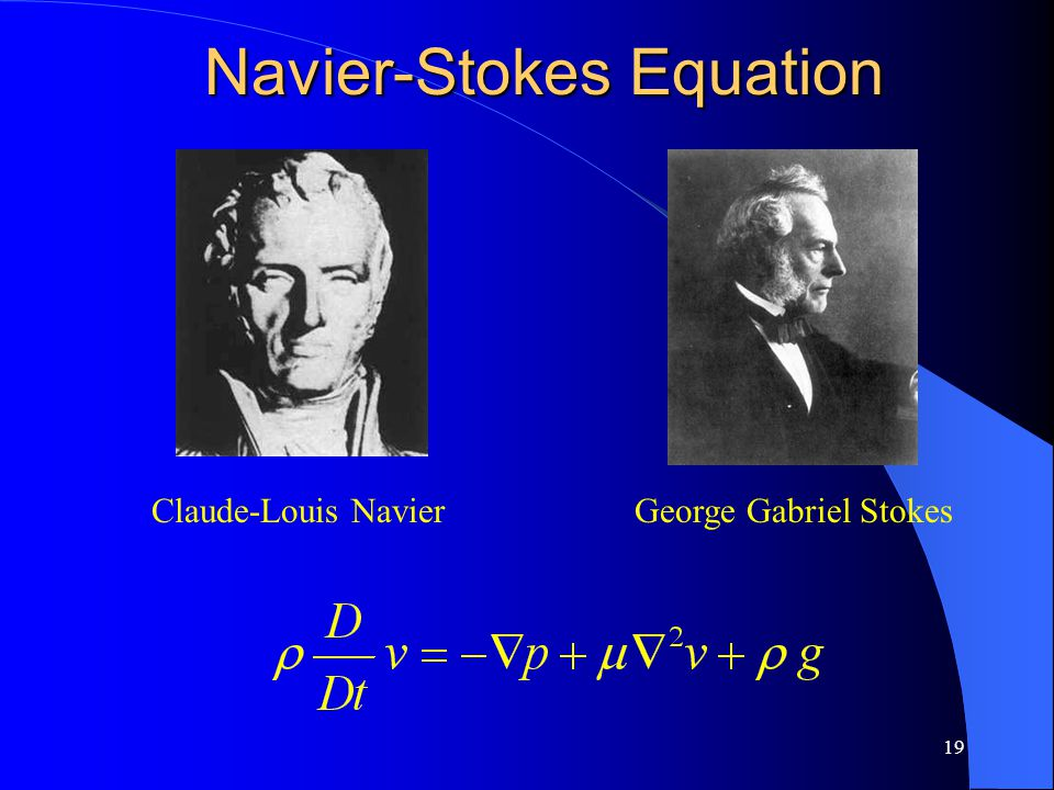 19 Claude-Louis NavierGeorge Gabriel Stokes Navier-Stokes Equation