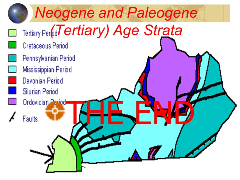 Neogene and Paleogene (Tertiary) Age Strata Paleogene and Neogene (65 to 1.6 million years ago) rocks & sediments were deposited after the dinosaur ex
