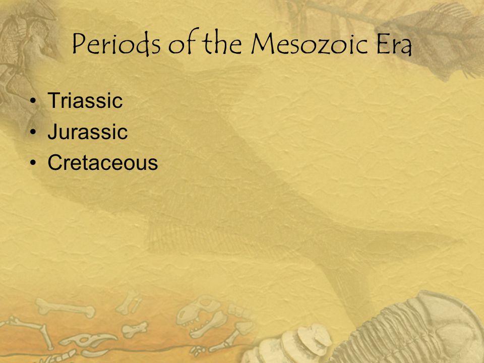 Periods of the Mesozoic Era Triassic Jurassic Cretaceous