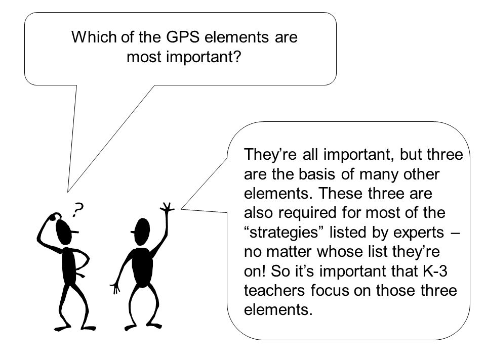 Which of the GPS elements are most important.