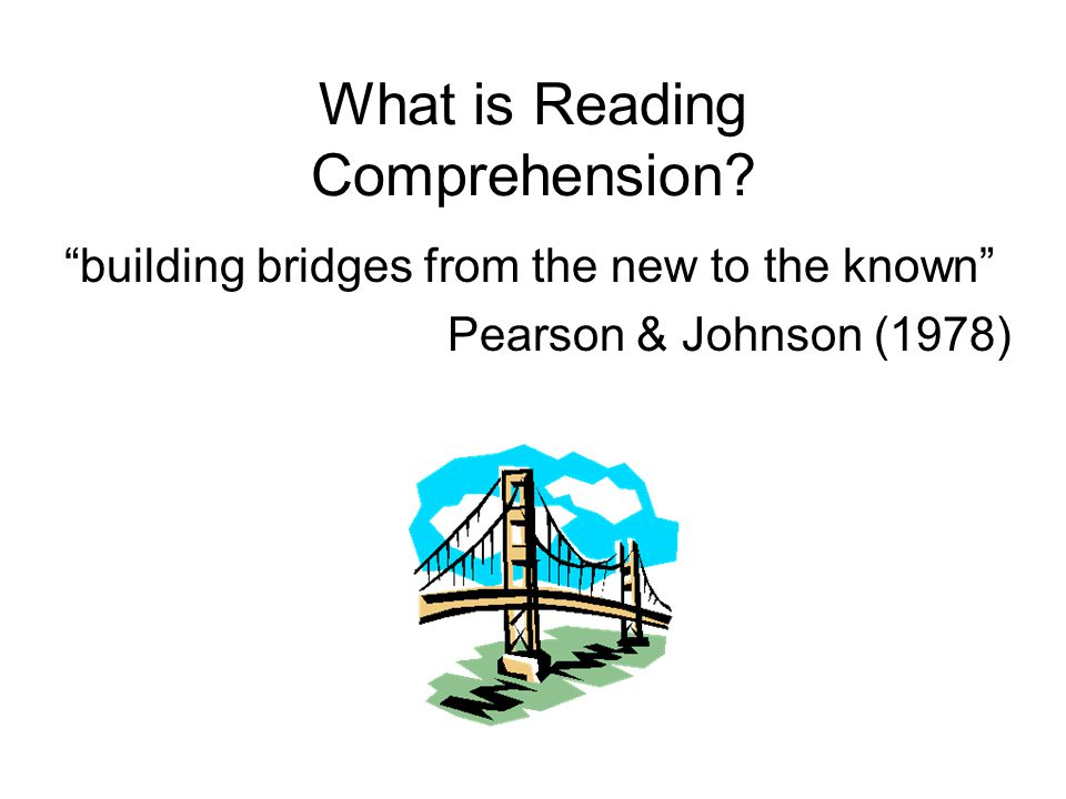 What is Reading Comprehension.
