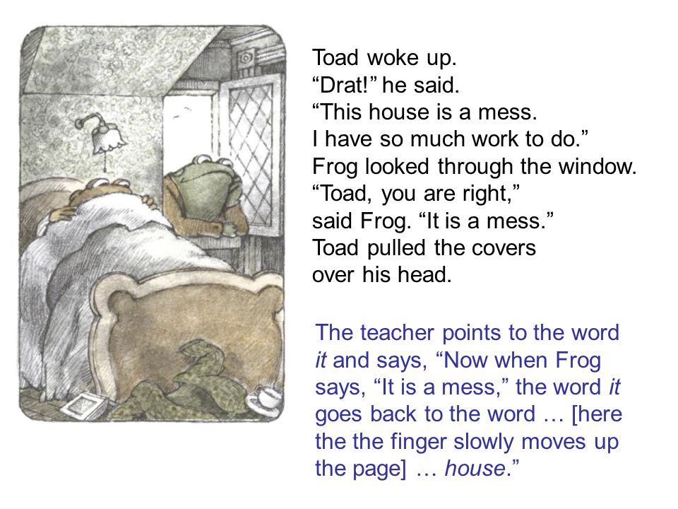 Toad woke up. Drat! he said. This house is a mess.