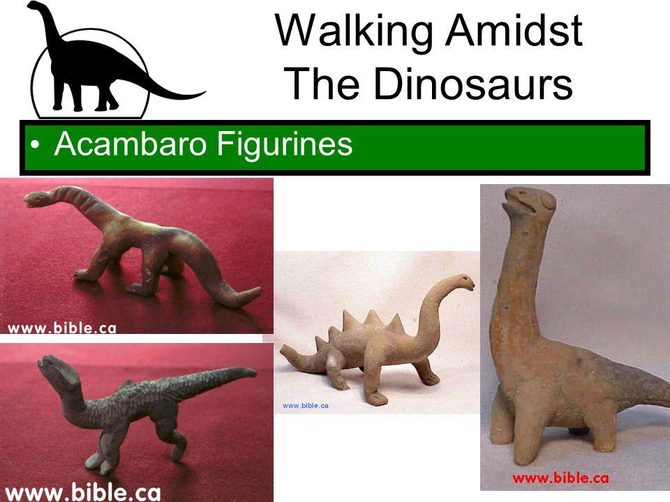Walking Amidst The Dinosaurs Acambaro Figurines