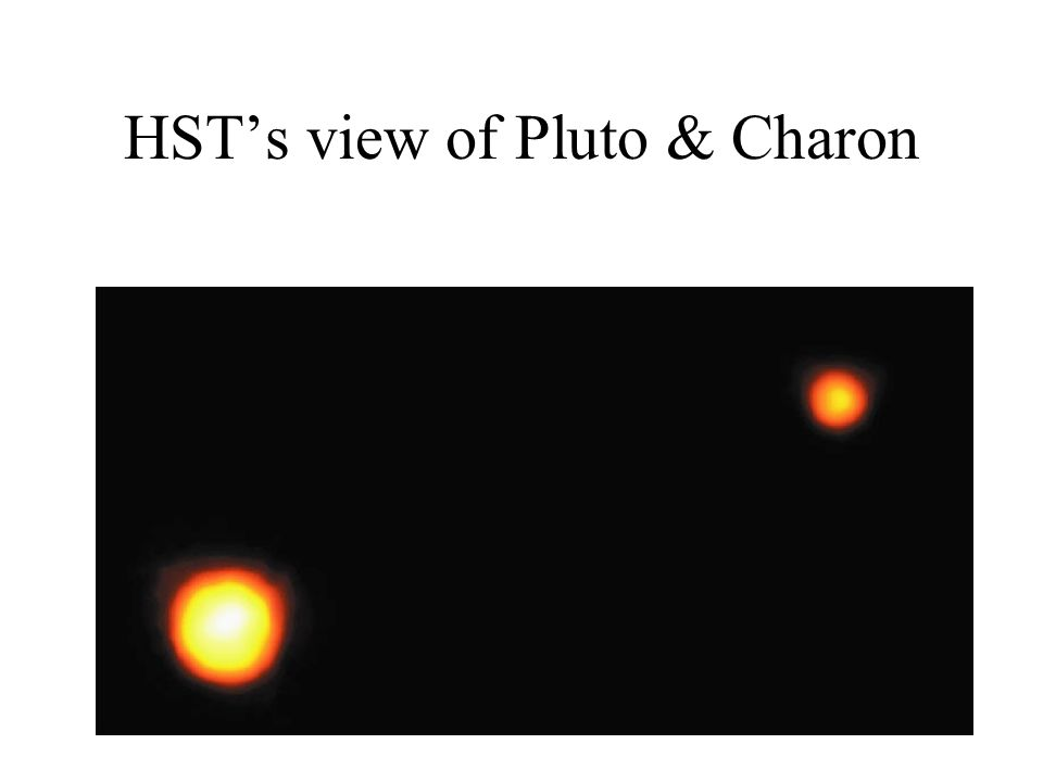 HST's view of Pluto & Charon