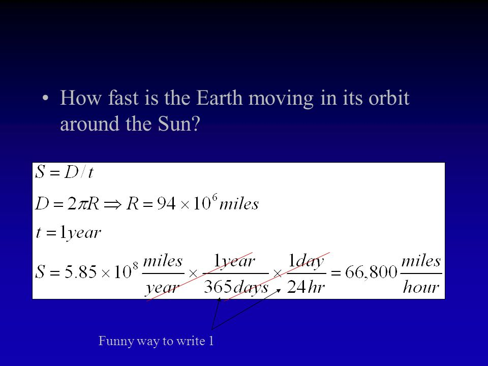 How fast is the Earth moving in its orbit around the Sun?