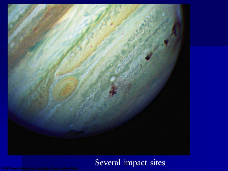 Several impact sites