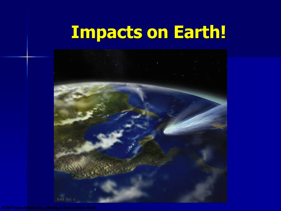 Impacts on Earth!