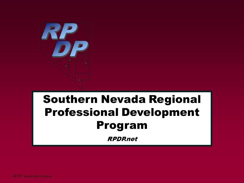 RPDP Secondary Literacy     Southern Nevada Regional Professional Development Program RPDP.net