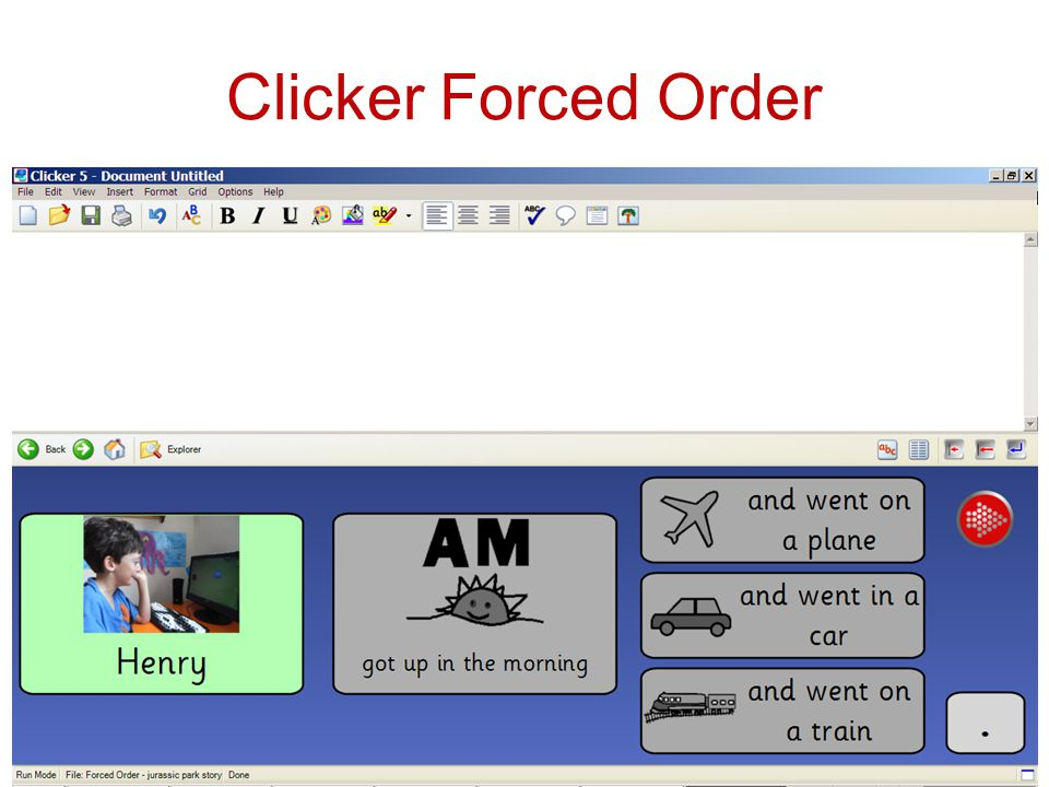 Clicker Forced Order