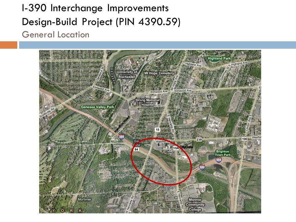 I-390 Interchange Improvements Design-Build Project (PIN 4390.59) General Location