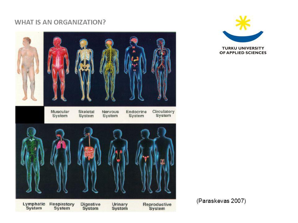 (Paraskevas 2007) WHAT IS AN ORGANIZATION