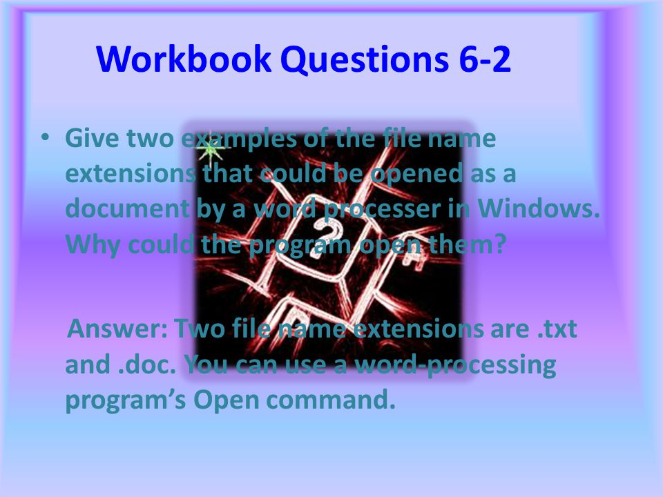 Workbook Questions 6-1 Of the three standards of word-processing style, which do you think puts more demands on the person using the program? Why? Ans
