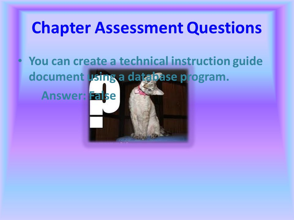 Chapter Assessment Questions You can move a sentence from one part of a document to another by selecting the sentence and dragging it. Answer: True