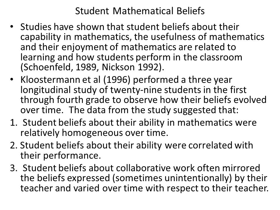 Question What insights did you gain from this video about the students' perceptions of mathematics and their math teacher.