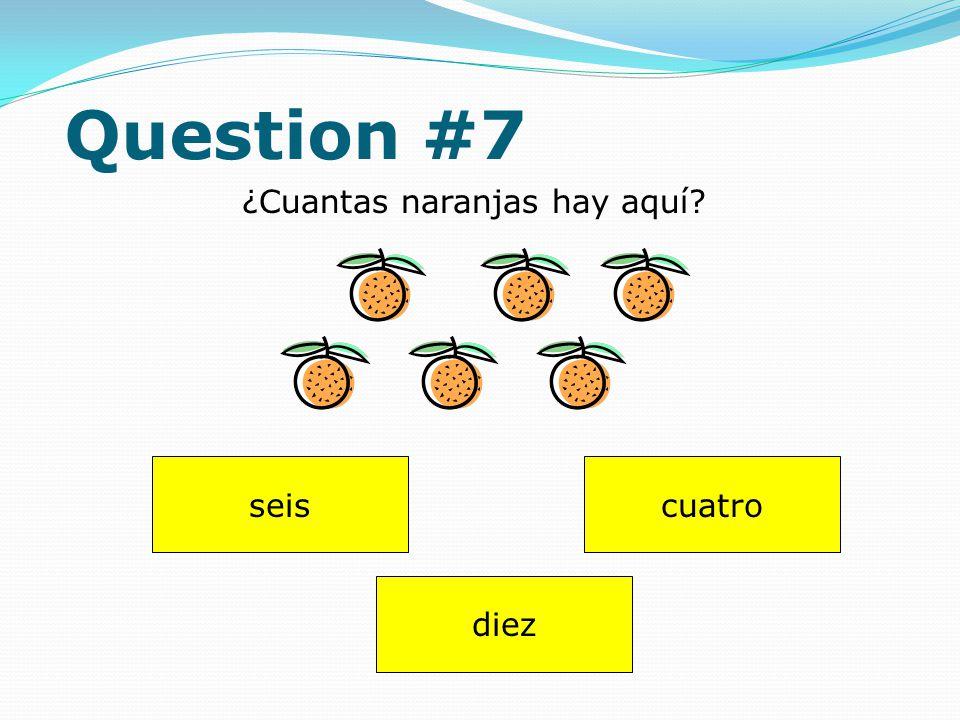 Question #6 huevo ¿Qué usa para pagar (to pay)? perro dinero
