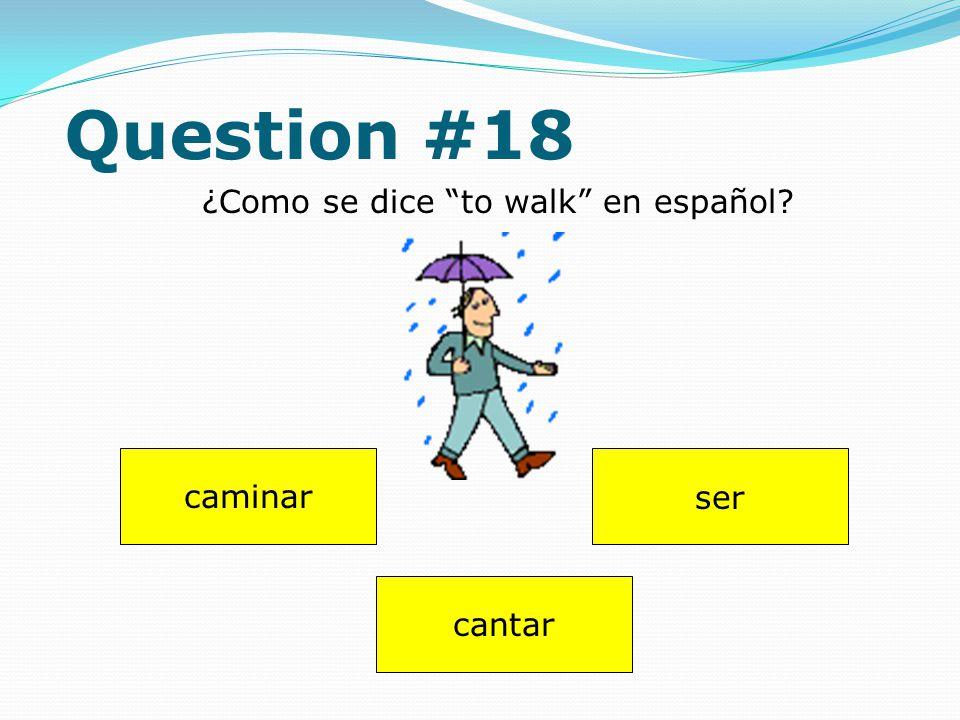 Question #17 Dibuja (draw) uno huevo. Answer