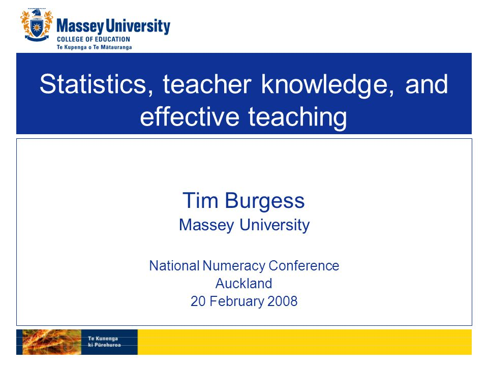 Why is someone giving a keynote address about statistics at a numeracy conference.