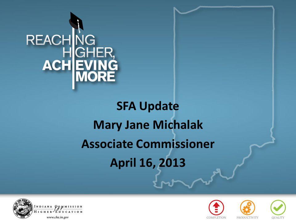 SFA Update Mary Jane Michalak Associate Commissioner April 16, 2013