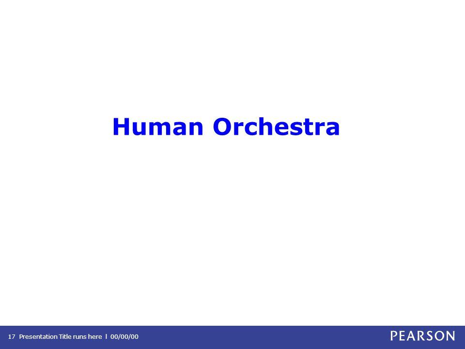 Human Orchestra Presentation Title runs here l 00/00/0017