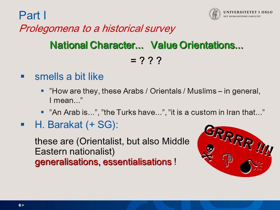 6 > Part I Prolegomena to a historical survey National Character...