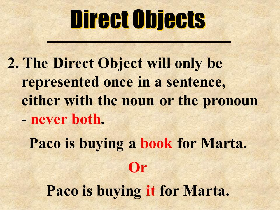 Direct Objects 2.